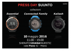 PRESS DAY SUUNTO - MILANO 10 MAGGIO 2016