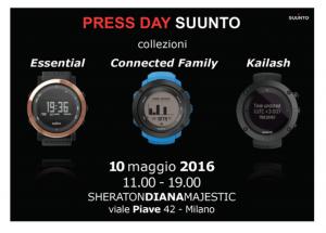 PRESS DAY SUUNTO - MILANO 10 MAGGIO 2016